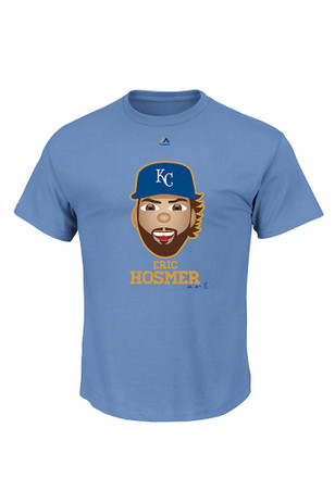 Eric Hosmer Majestic KC Royals Mens Blue Gold Program Player Emoji T-Shirt