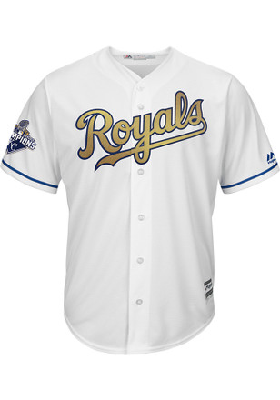 Alex Gordon Kansas City Royals Mens Replica Cool Base Gold Program Jersey