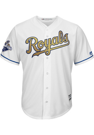 Eric Hosmer KC Royals Mens Replica Cool Base Gold Program Jersey