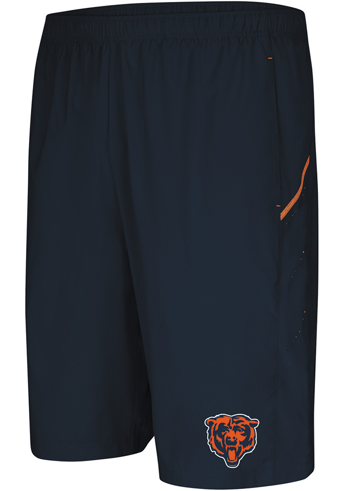 Majestic Chicago Bears Mens Navy Blue Cut Above Shorts - Image 1