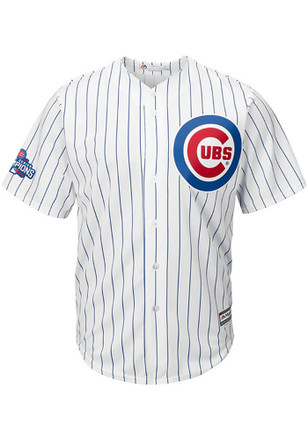 Chicago Cubs Mens Majestic Replica Patch Jersey