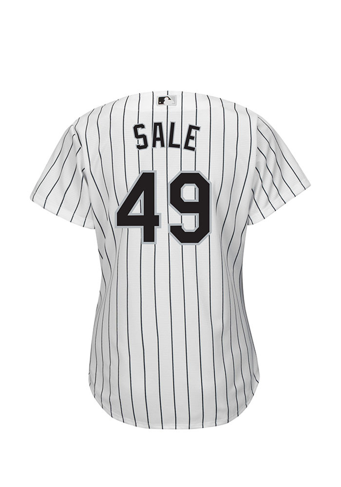 Chris Sale Chicago White Sox Womens Replica Cool Base Home Jersey - White - Image 2