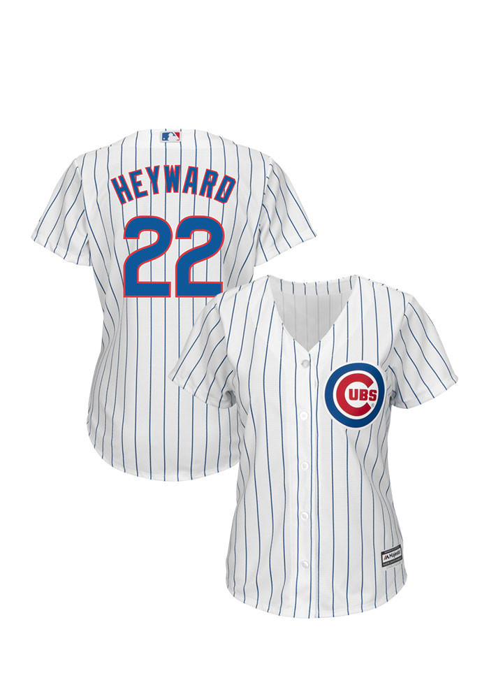 Jason Heyward Chicago Cubs Womens Replica Team Jersey - White - Image 1