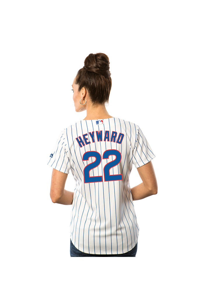 Jason Heyward Chicago Cubs Womens Replica Team Jersey - White - Image 2