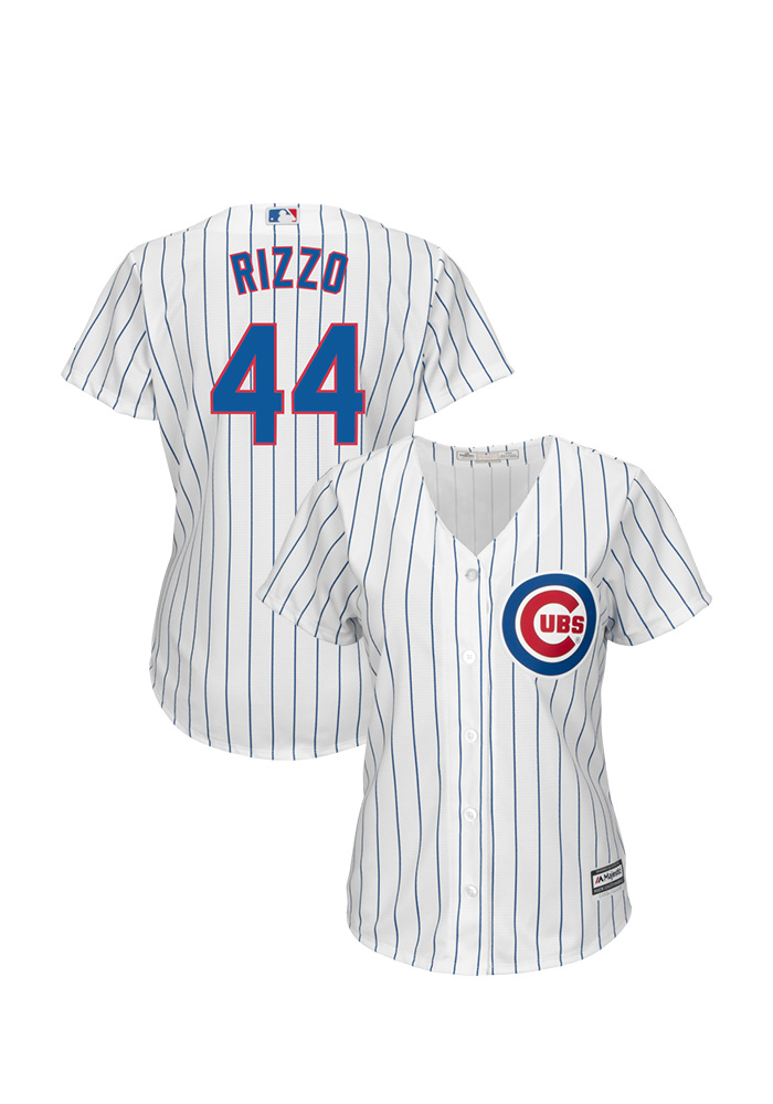 Anthony Rizzo Chicago Cubs Womens Replica 2019 Home Jersey - White - Image 3