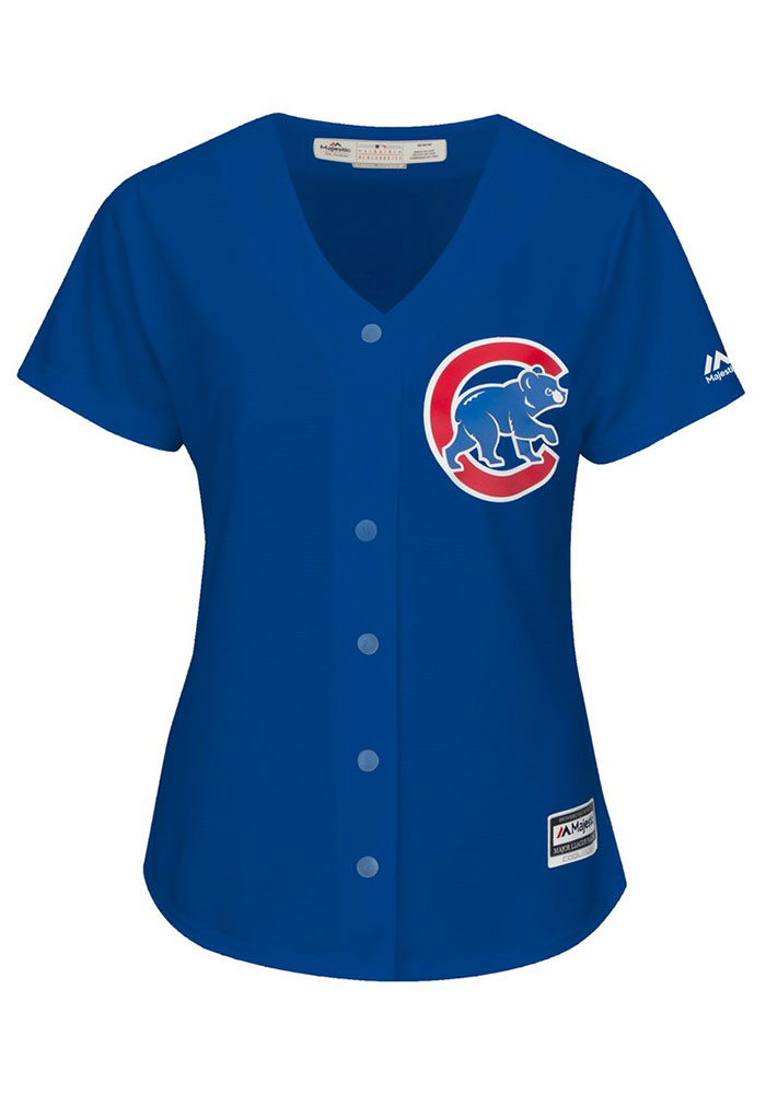 Anthony Rizzo Chicago Cubs Womens Replica Cool Base Alternate Jersey - Blue - Image 2