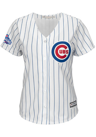 Chicago Cubs Womens Majestic Replica Patch Jersey