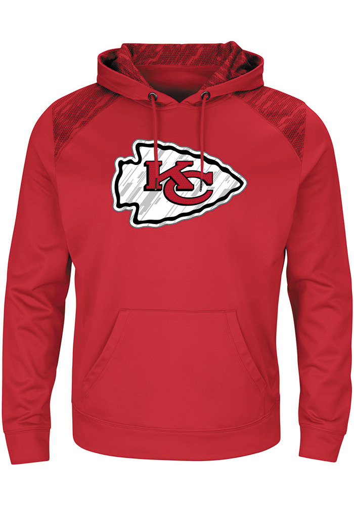Majestic Kansas City Chiefs Mens Red Armor Hood, Red, 100% POLYESTER, Size M