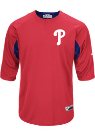 Philadelphia Phillies Majestic On-Field 3/4 BP Trainer Batting Practice - Red