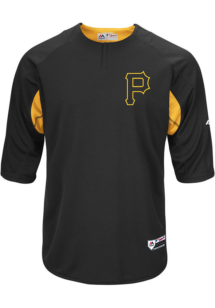 save off 7a5ae 199f4 Pittsburgh Pirates Mens Majestic Batting Practice Jersey - Black