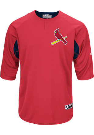 St Louis Cardinals Mens Majestic Batting Practice Jersey