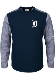 sale retailer 58643 44edf Majestic Detroit Tigers Navy Blue On-Field Tech Sweatshirt