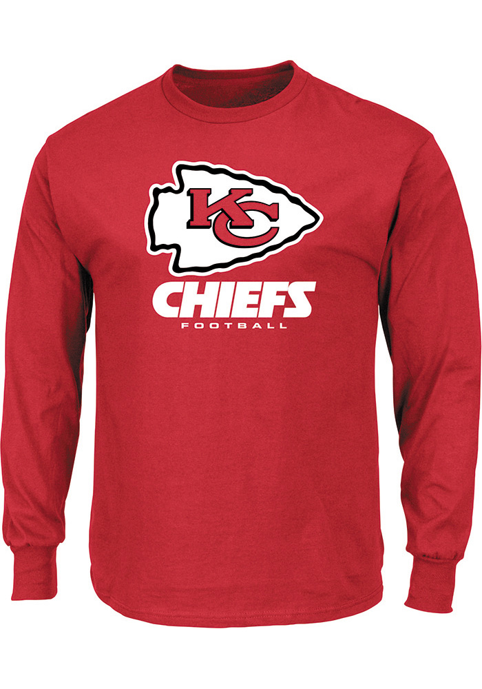 Majestic Kansas City Chiefs Red Critical Victory III Long Sleeve T Shirt - Image 1