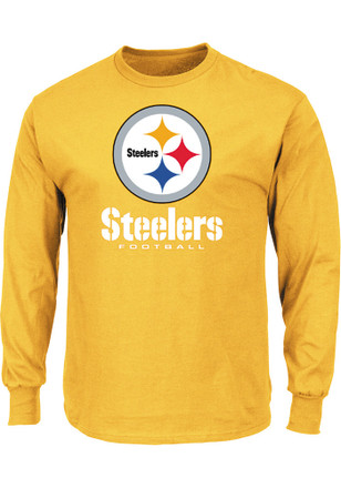 Majestic Pittsburgh Steelers Mens Gold Critical Victory III Tee