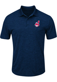 Cleveland Indians Majestic Hit First Polo Shirt - Navy Blue