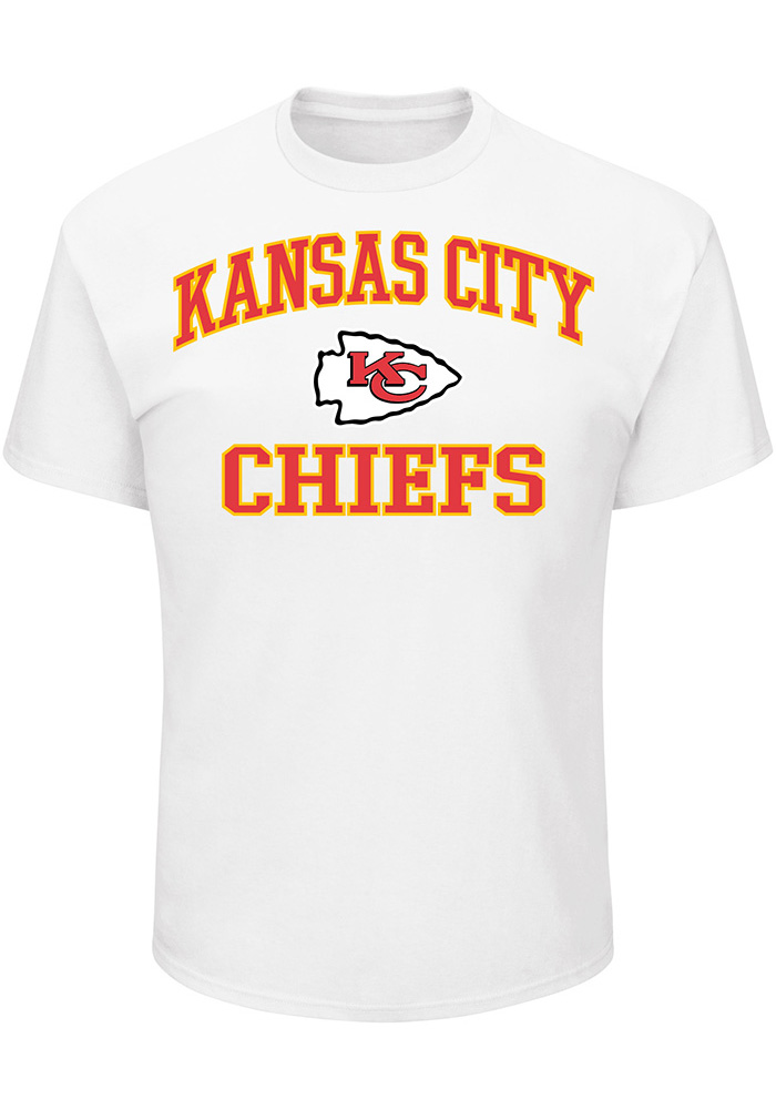 Majestic Kansas City Chiefs White Heart & Soul III Short Sleeve T Shirt - Image 1