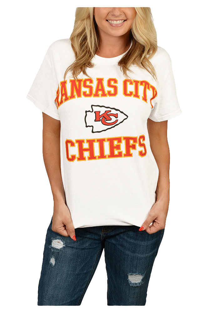 Majestic Kansas City Chiefs White Heart & Soul III Short Sleeve T Shirt - Image 2