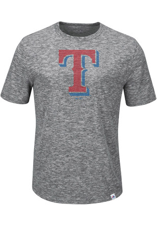 Majestic Texas Rangers Mens Grey Fast Pitch Tee