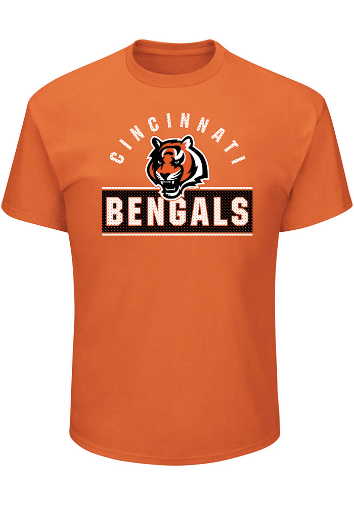 Majestic Cincinnati Bengals Orange Maximized Tee