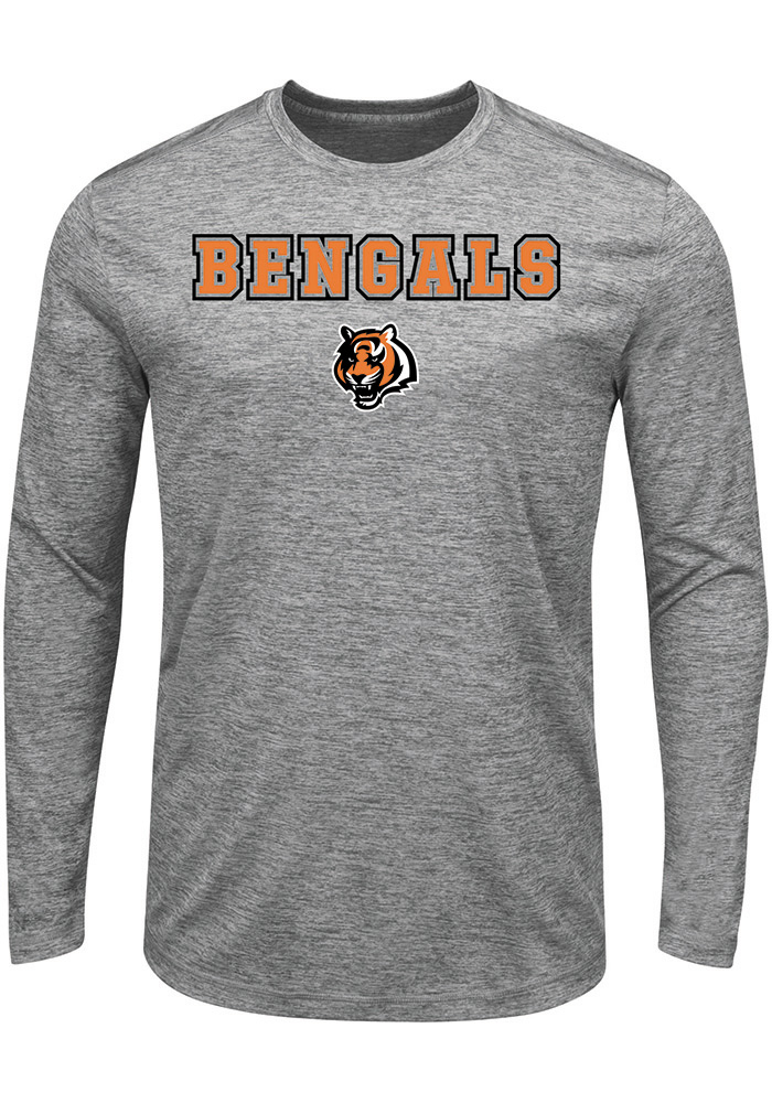 Majestic Cincinnati Bengals Grey Fierce Intensity Long Sleeve T-Shirt - Image 1
