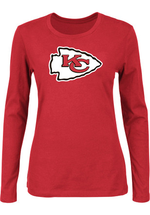 Majestic KC Chiefs Womens Primary Logo Red T-Shirt