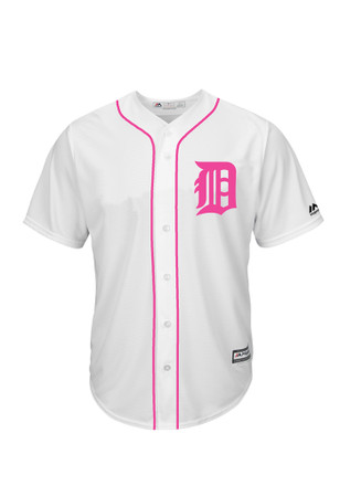 Detroit Tigers Mens Majestic Replica Mother's Day Jersey