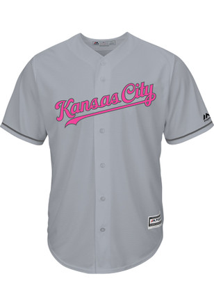 Kansas City Royals Mens Majestic Replica Mother's Day Jersey