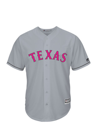 Texas Rangers Mens Majestic Replica Mother's Day Jersey