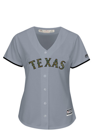 Texas Rangers Womens Majestic Replica Memorial Day Jersey