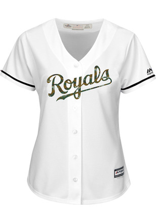 Kansas City Royals Womens Majestic Replica Memorial Day Jersey