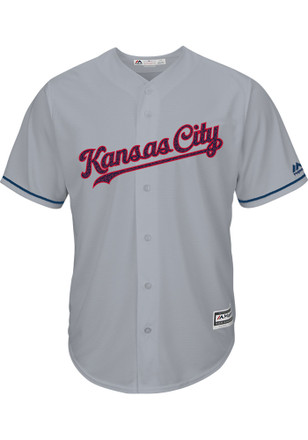 KC Royals Mens Majestic Replica Stars and Stripes Jersey