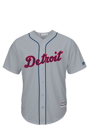Detroit Tigers Mens Majestic Replica Stars and Stripes Jersey