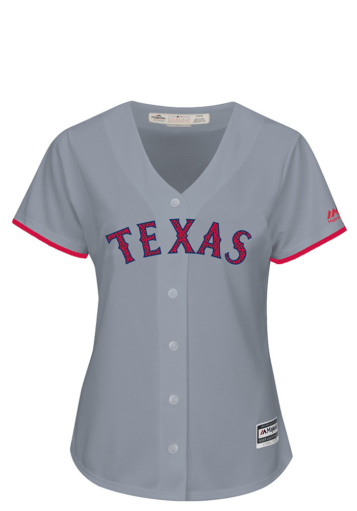 online store 615d1 987a0 Texas Rangers Womens Majestic Replica Stars and Stripes Jersey - Grey