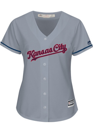 Kansas City Royals Womens Majestic Replica Stars and Stripes Jersey