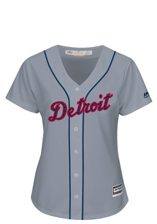 Detroit Tigers Womens Majestic Replica Stars and Stripes Jersey