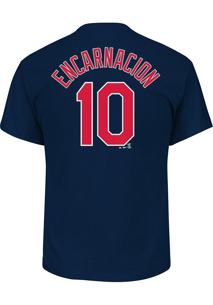 Edwin Encarnacion Cleveland Indians Navy Blue N&N Short Sleeve Player T Shirt - Image 1