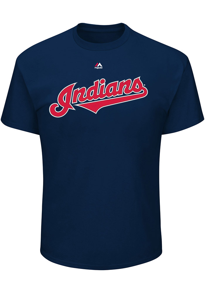 Edwin Encarnacion Cleveland Indians Navy Blue N&N Short Sleeve Player T Shirt - Image 2