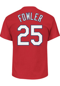 Dexter Fowler St Louis Cardinals Red Name and Number Player Tee