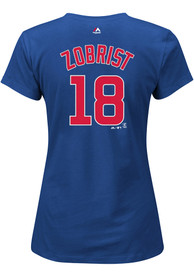 Ben Zobrist Majestic Chicago Cubs Womens Blue Name and Number Player Tee
