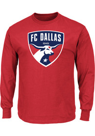 b68119a92 Majestic FC Dallas Red Logo Tee