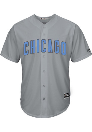 Chicago Cubs Mens Majestic Replica 2017 Father's Day Jersey