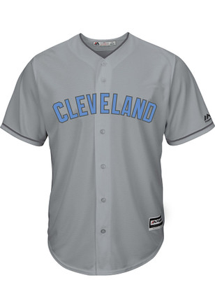 Cleveland Indians Mens Majestic Replica 2017 Father's Day Jersey