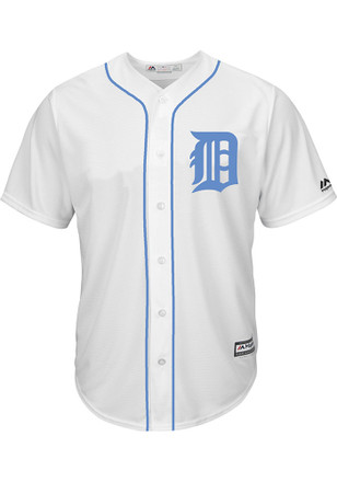 Detroit Tigers Mens Majestic Replica 2017 Father's Day Jersey
