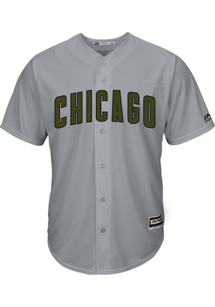 Chicago Cubs Mens Majestic Replica 2017 Memorial Day Jersey