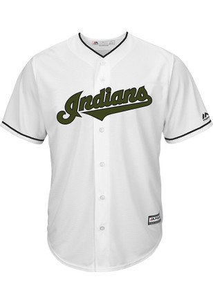 Cleveland Indians Mens Majestic Replica 2017 Memorial Day Jersey