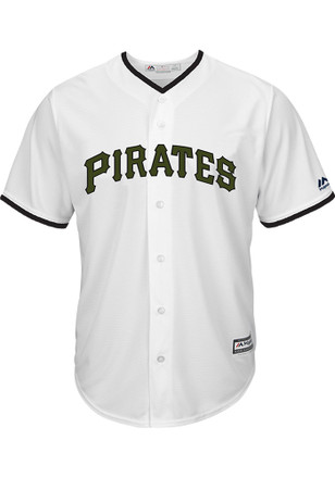 Pittsburgh Pirates Mens Majestic Replica 2017 Memorial Day Jersey