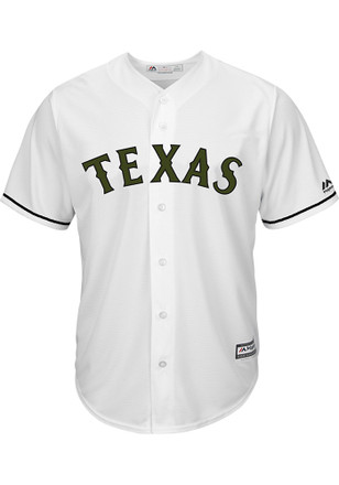 Texas Rangers Mens Majestic Replica 2017 Memorial Day Jersey