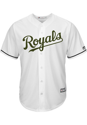 Kansas City Royals Mens Majestic Replica 2017 Memorial Day Jersey