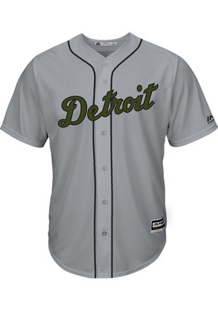 Detroit Tigers Mens Majestic Replica 2017 Memorial Day Jersey