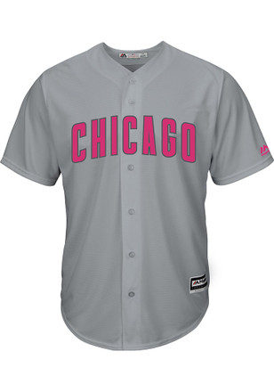 Chicago Cubs Mens Majestic Replica 2017 Mother's Day Jersey